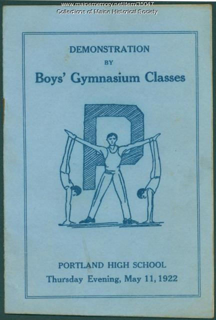 Portland High School gym demonstration program, 1922