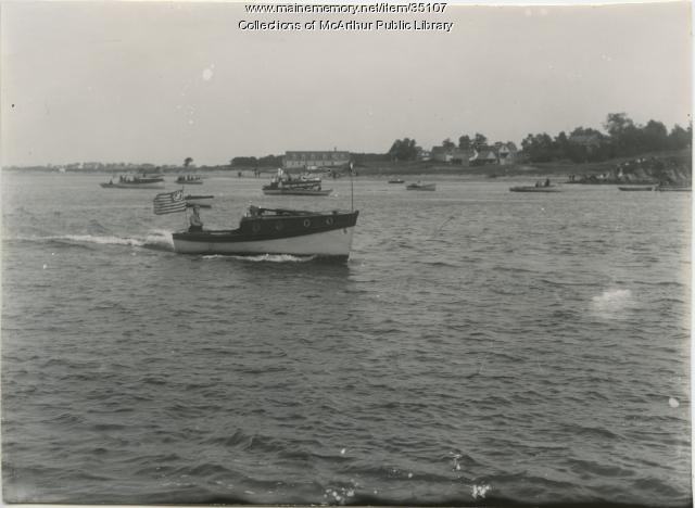 River traffic, Saco River, ca. 1912