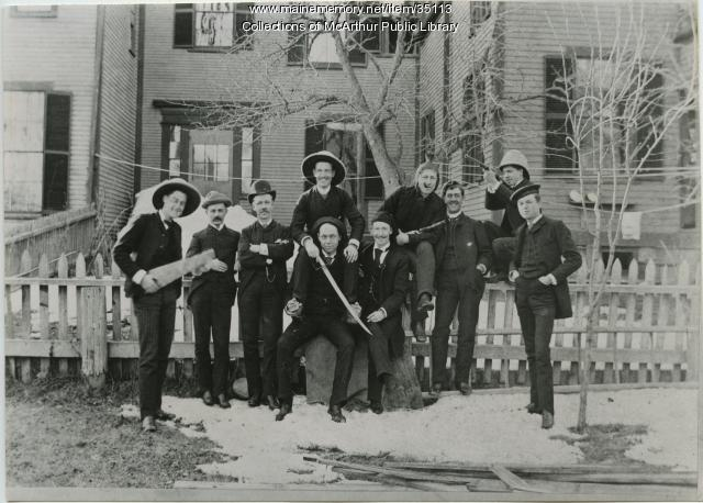 J. Vaughn Dennett and friends, Saco, 1887