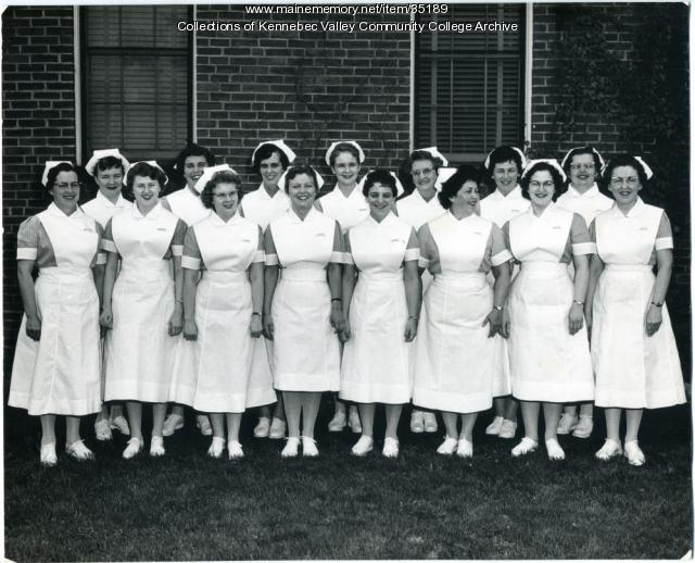 Maine School of Practical Nursing graduating class, Waterville, 1960