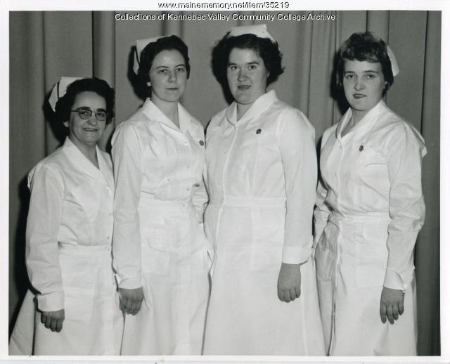 Maine School of Practical Nursing class officers, Waterville, 1959