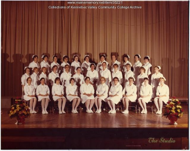 Maine School of Practical Nursing graduating class, Waterville, 1979