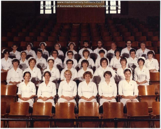 Maine School of Practical Nursing graduating class, Waterville, 1981