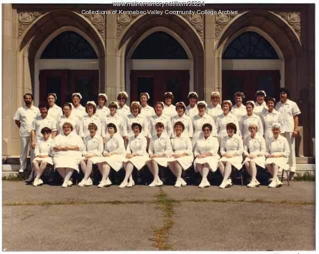 Maine School of Practical Nursing graduating class, Waterville, 1982