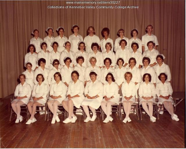 Maine School of Practical Nursing graduating class, Waterville, 1977