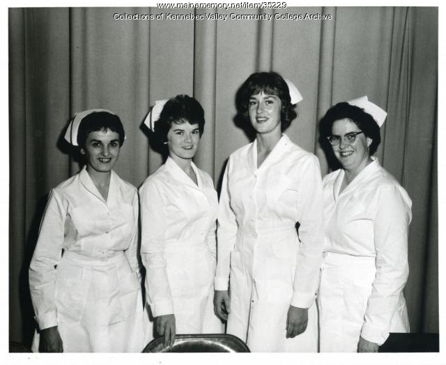 Maine School of Practical Nursing students, Waterville, ca. 1964
