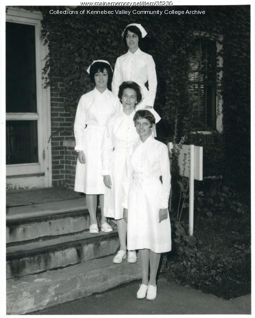 Maine School of Practical Nursing students, Waterville, ca. 1969