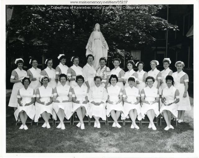 Maine School of Practical Nursing graduating class, Waterville, 1962