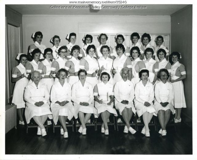 Maine School of Practical Nursing graduating class, Waterville, 1963