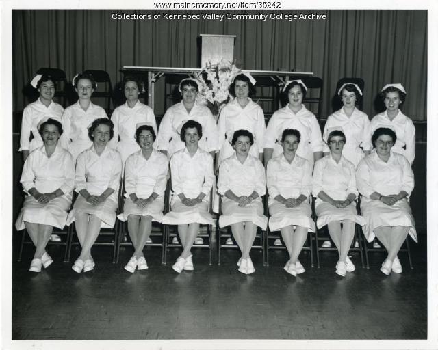 Maine School of Practical Nursing graduating class, Waterville, 1959