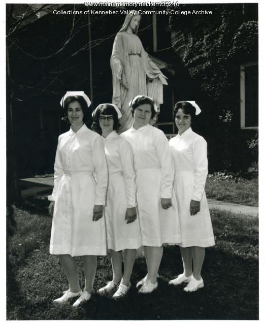 Maine School of Practical Nursing class officers, Waterville, 1965