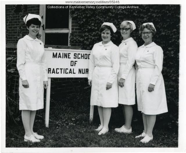 Maine School of Practical Nursing class officers, Waterville, 1967