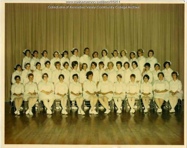 Maine School of Practical Nursing graduating class, Waterville, 1971