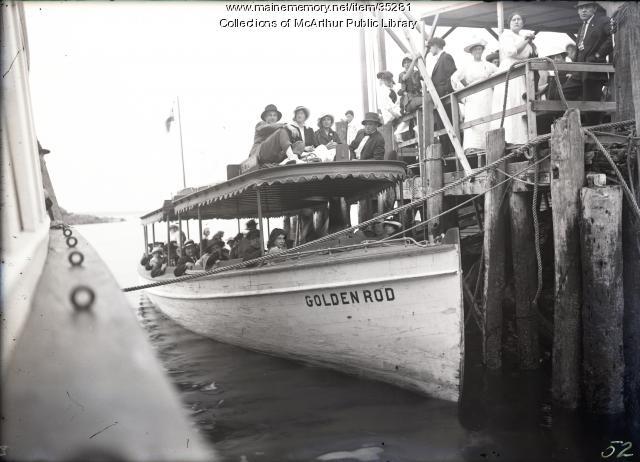"""Launch """"Goldenrod"""", Biddeford, ca. 1915"""