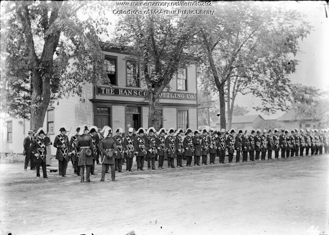 Biddeford Knights of Columbus ready to parade, ca. 1915