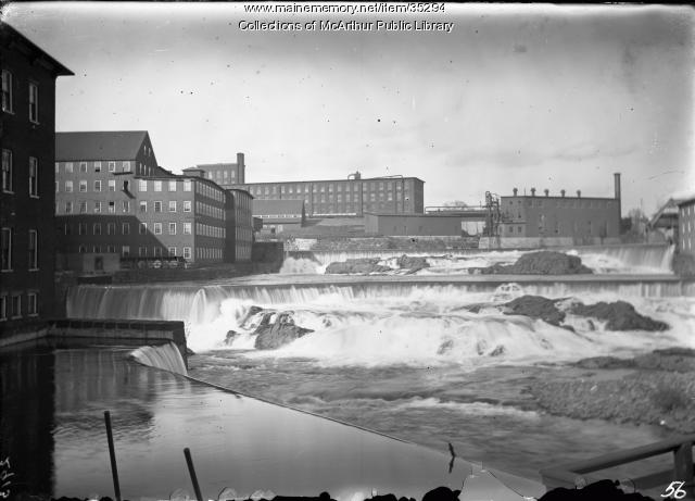 laconia mills and the saco river  biddeford  1910