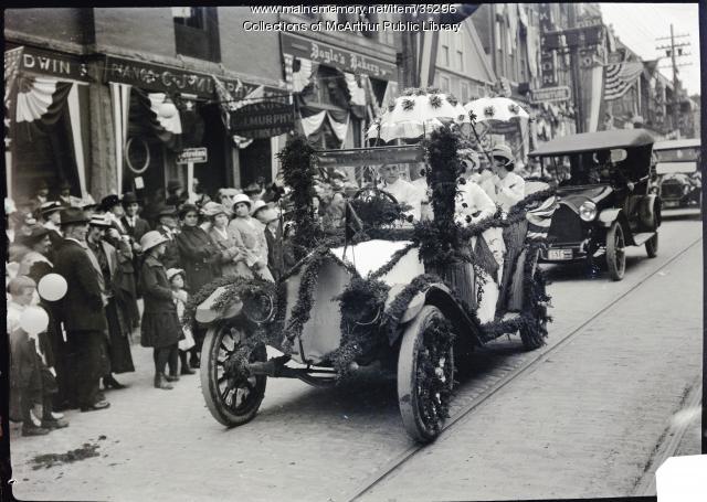 Decorated Automobiles in Biddeford's Tercentenary Parade, September 16, 1916