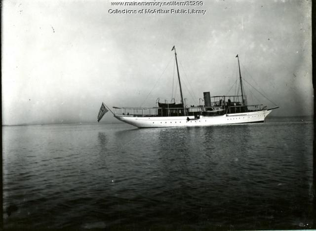 "Yacht ""Kaska"", Biddeford Pool, 1917"