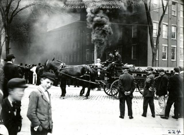 Biddeford Fire Engines, 1909