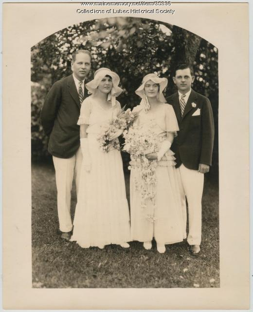 Pike family wedding, Lubec, 1930