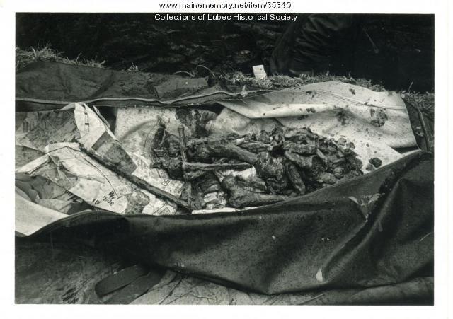 Hopley Yeaton remains, Lubec, 1974