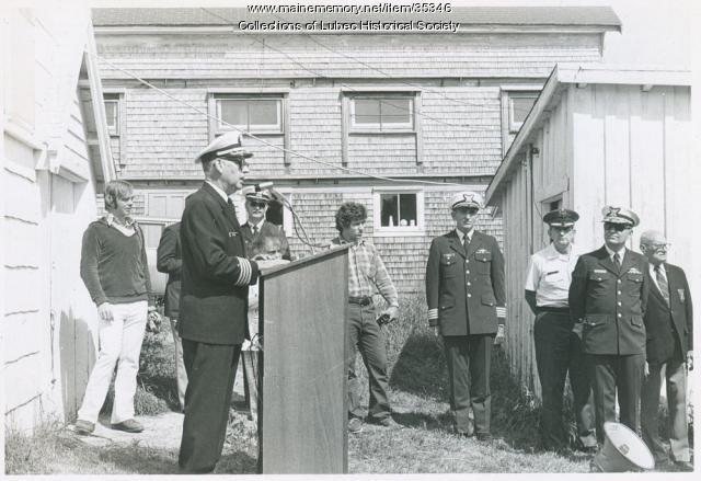 Hopley Yeaton reburial ceremony, Lubec, 1975