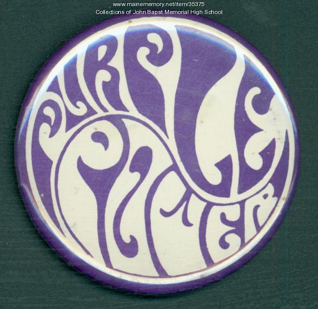 John Bapst High School Booster button, Bangor, ca. 1960