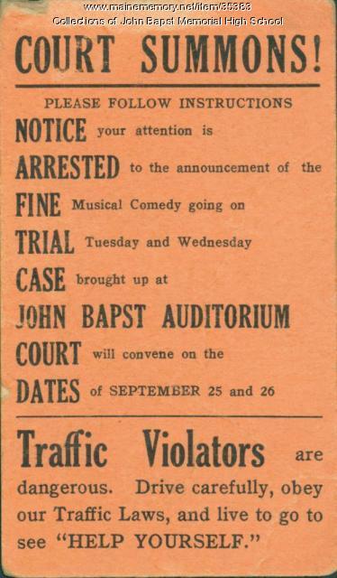 Ticket to John Bapst