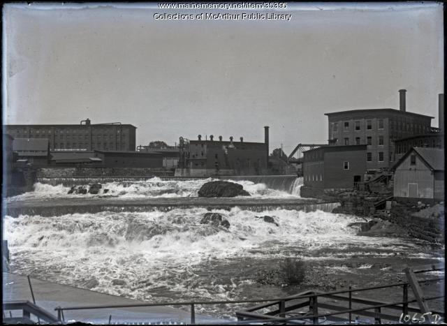 Saco Falls and mill dams, Biddeford-Saco, 1912