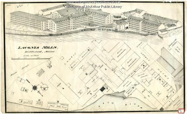 Laconia Mills, Biddeford, 1875