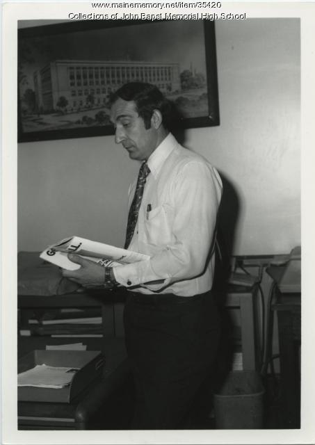 Joseph Sekera, John Bapst principal, Bangor, ca. 1975
