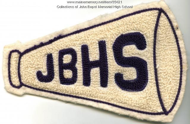 John Bapst High School Megaphone patch, Bangor, ca. 1960