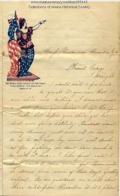Cyrus Libby on Battle of Bull Run, Alexandria, Va., 1862
