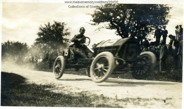 Race car on Thurlow Hill, Poland, June 17, 1911