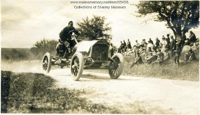 Race Car at the Thurlow Hill Climb, Poland, 1911