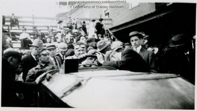 Stanley Race Car at the Old Orchard Beach Grandstand, September 1911