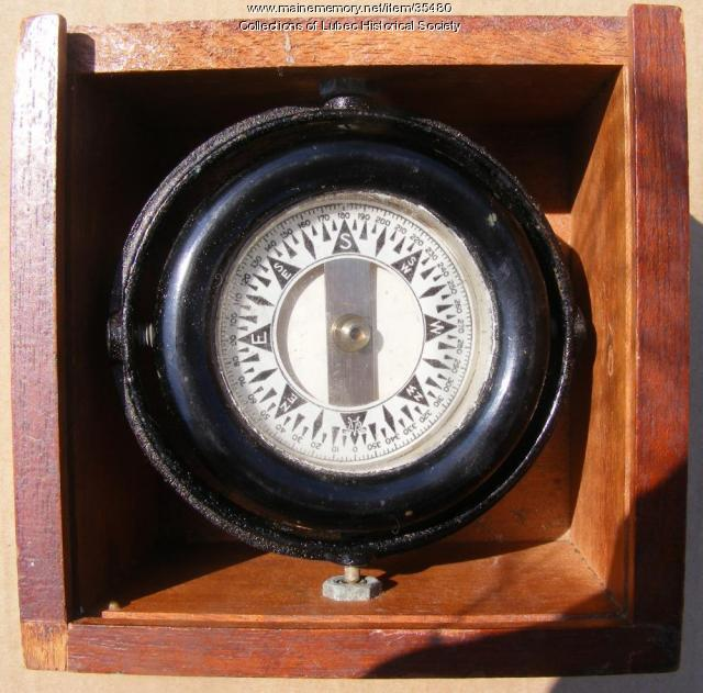 Ship's compass, Lubec, ca. 1935