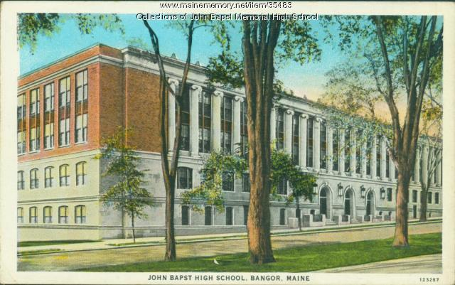 John Bapst High School, Bangor, ca. 1935