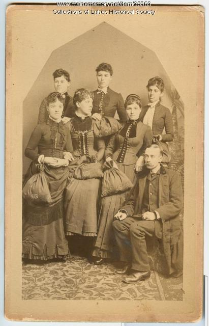 A.W. Kelley and others, Lubec, ca. 1885