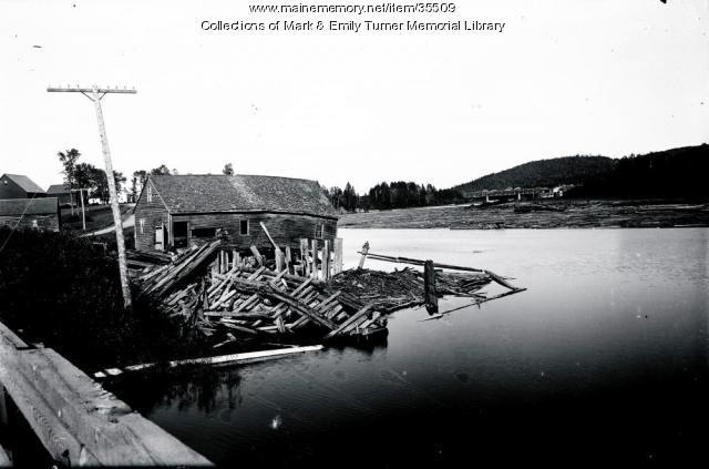 Log drive, Sheridan, ca. 1903