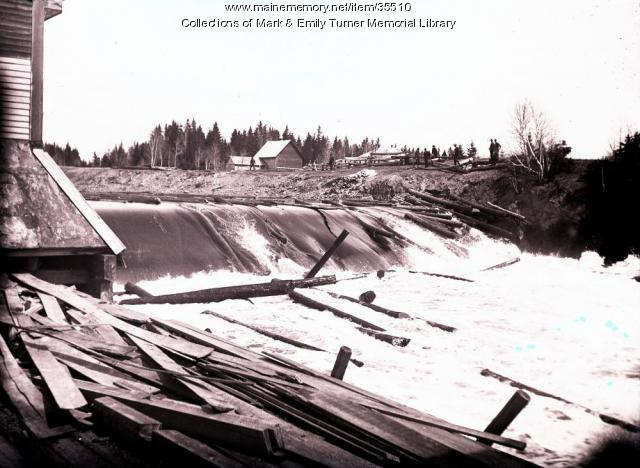 Roll dam, Sheridan, ca. 1902