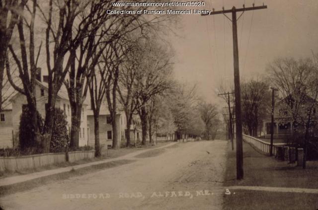 Biddeford (Saco) Road, Alfred, ca. 1900