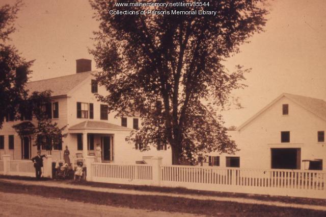 George Rogers homestead, Alfred, ca. 1900