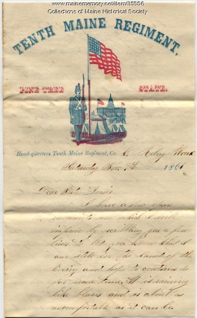 James E. Mitchell letter from Relay House, MD, 1861