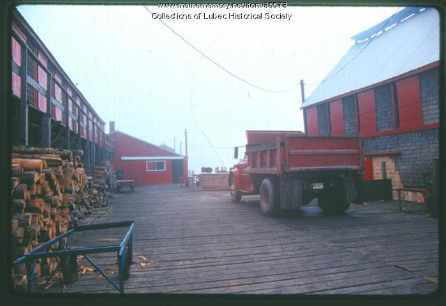 Herring smokehouses, Lubec, 1989