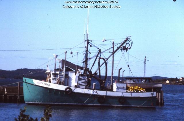 Seiner boat, Lubec, August 1989