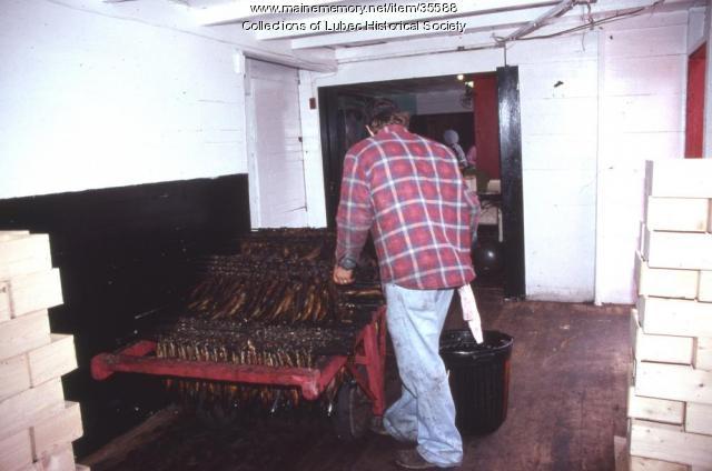 Inside McCurdy's Smokehouse, Lubec, 1989