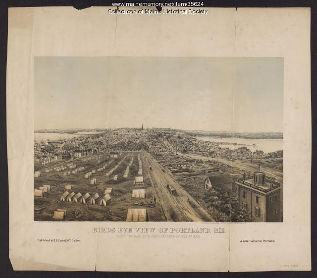 View of Portland after the great fire, 1866