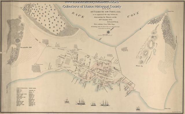 Copy of Plan of Falmouth (Portland), 1883