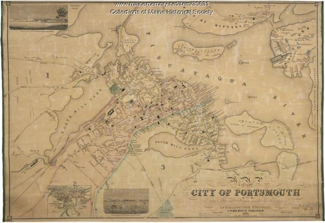 Map of the city of Portsmouth, New Hampshire, 1850 - Maine Memory ...